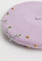 Superbalist - Des chain detail beret - purple