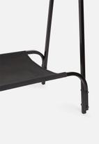 Sixth Floor - Hammock clothing rack with canvas - black