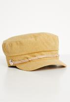 Superbalist - Corduroy baker boy cap - yellow