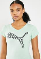 PUMA - Heather cat tee performance - blue