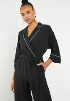 Superbalist - Jumpsuit with contrast - black and white