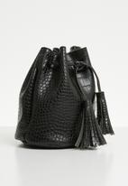 Superbalist - Misty croc bucket bag - black