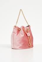 Superbalist - Adina velvet bucket bag - pink