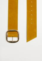 Superbalist - Velvet belt - yellow