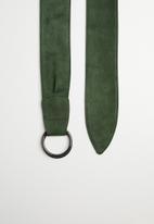 Superbalist - Velvet ring belt - green