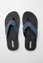 SOVIET - Lilo thongs - black & blue