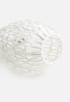 Present Time - Paper rope pendant - white