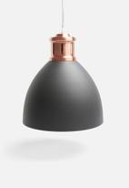 Present Time - Refine metal pendant lamp - black & copper
