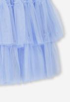 Cotton On - Trixiebelle tulle tiered skirt - blue