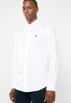 POLO - Custom fit greig shirt - white