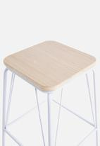 Sixth Floor - Pin counter stool - white