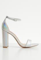 Steve Madden - Carrson heel - silver