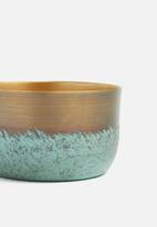 Sixth Floor - Patina bowl set - gold & blue