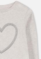 Cotton On - Anna long sleeve tee - grey & silver