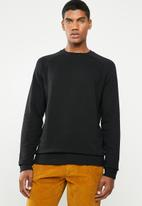 basicthread - Pullover crew neck sweat - black