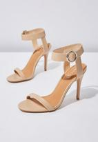 Cotton On - Faux leather ankle strap heel - neutral