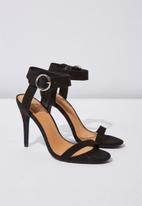 Cotton On - Faux suede ankle strap heel - black