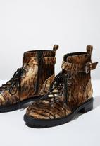 Cotton On - Hariette combat boot - brown & black