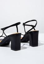 Cotton On - Faux leather thin strap heel - black