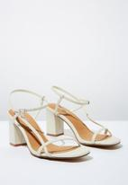 Cotton On - Faux leather thin strap heel - stone