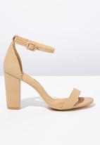 Cotton On - Faux suede ankle strap heel - neutral