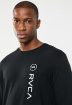 RVCA - Long sleeve sport tee - black