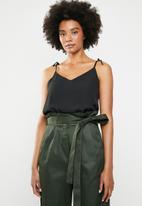 Superbalist - Tie shoulder cami top - black