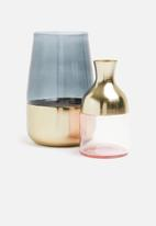 SF Collection - Lyssa vase - gold/smoke