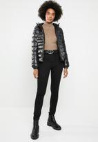 Brave Soul - Hoodie puffer jacket - black