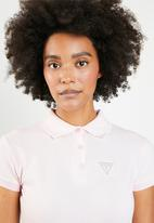 GUESS - Guess bling polo top - pink