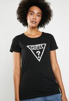GUESS - Guess diamonds and pearls tri tee - black