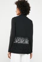 Vero Moda - Lace band blazer - black