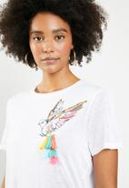 ONLY - Pam bird top - white