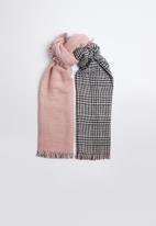 ALDO - Mixed print raw edge wrapped scarf - multi