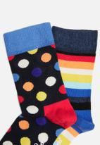 Happy Socks - 2 Pack big dot socks - multi
