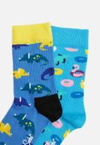 Happy Socks - 2 Pack poolparty socks - multi