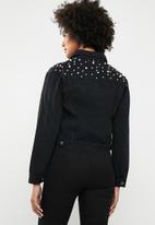 dailyfriday - Pearl denim jacket - black