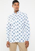 Jack & Jones - Summer Adam printed long sleeve shirt - white