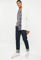 Jack & Jones - Carl resort  short sleeve shirt - navy