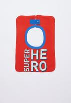 Cotton On - Sugar and spice bib - red & blue