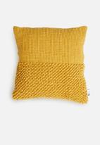 Sixth Floor - Jamina cushion cover - mustard