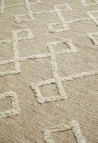 Sixth Floor - Gem tufted rug - natural