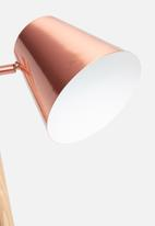Present Time - Rubi floor lamp - brushed copper