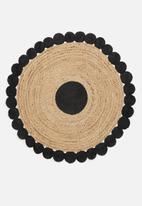 Sixth Floor - Jadila kids braided rug - natural/black