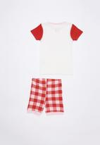 Cotton On - Chloe short sleeve girls pj set - red