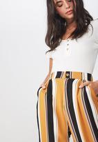 Cotton On - Abi high waist pants - mustard