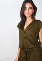 Cotton On - Dea wide leg jumpsuit - green