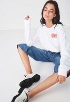 Cotton On - Ferguson graphic crew sweater - white