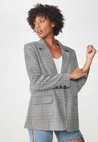 Cotton On - Relaxed blazer - black & white
