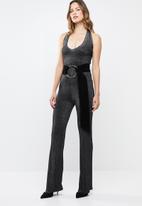 Sissy Boy - Lurex halter jumpsuit - black